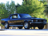 Raven Black 1968 CJ Convertible Mustang