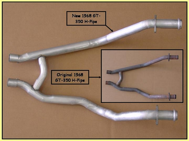 1968 Shelby GT-350 & 302 J-Code H-Pipe - $515/each + shipping