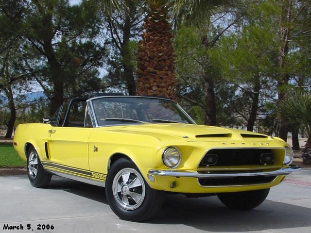 Factory Special Paint Yellow 1968 Shelby GT500KR