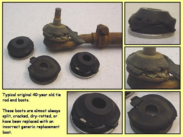 1967 1968 1969 Mustang And Shelby Tie Rod End Dust Grease